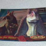 Star Wars Evolution topps 2001 Jar jar Binks Foil card